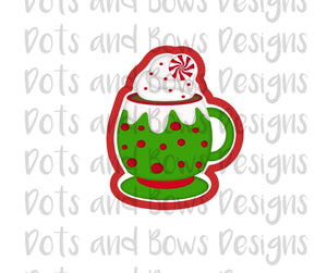 Peppermint Cocoa Cutter - Dots and Bows Designs