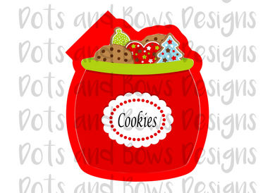 Christmas Cookie Jar Cutter - Dots and Bows Designs