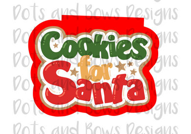 Cookies for Santa Cutter - Dots and Bows Designs