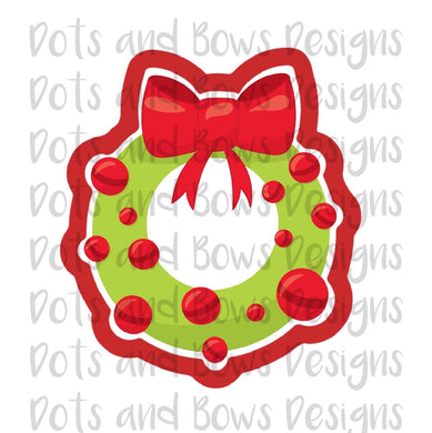 Bow Wreath Cutter - Dots and Bows Designs