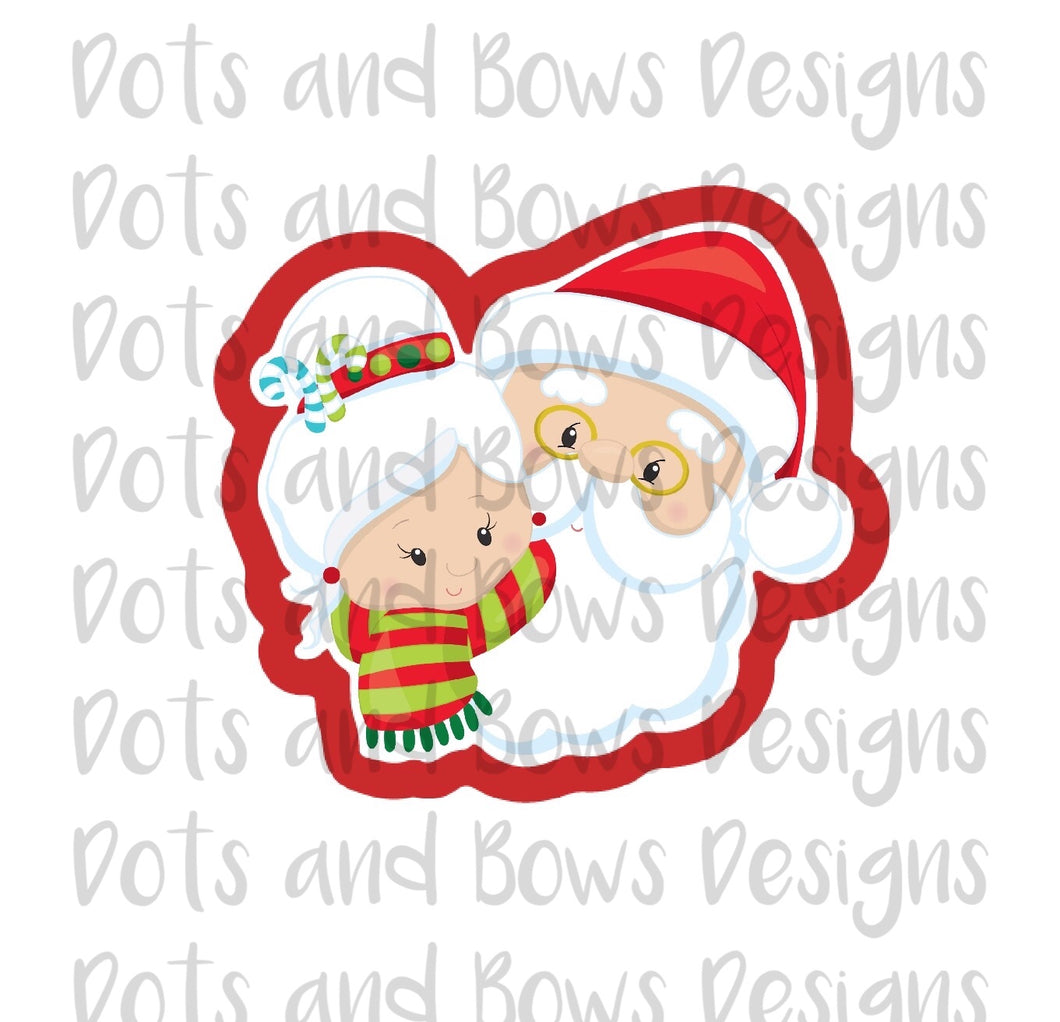 Mr. and Mrs. Claus Cutter - Dots and Bows Designs