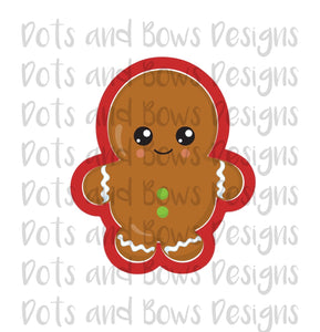 Chubby Ginger Cutter - Dots and Bows Designs