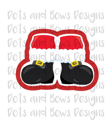 Santa Feet Cutter - Dots and Bows Designs