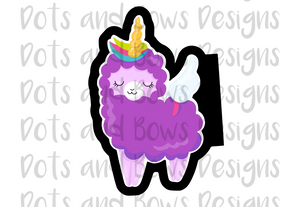 Full Body Llamacorn Cutter - Dots and Bows Designs