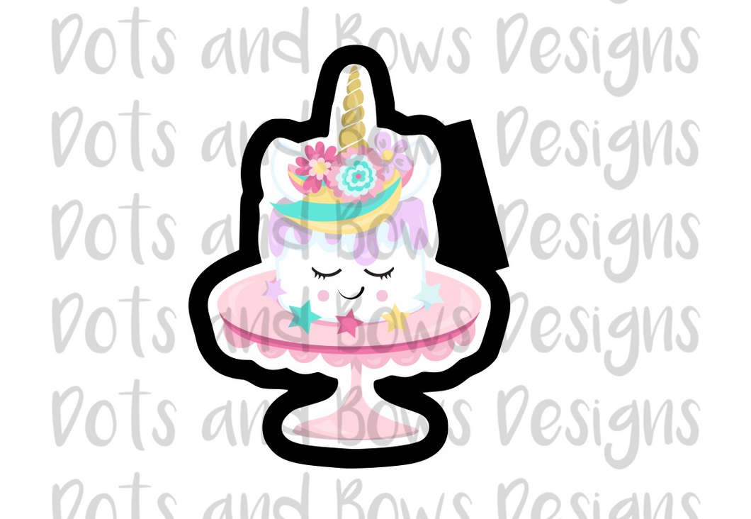 Unicorn Cake Cutter - Dots and Bows Designs