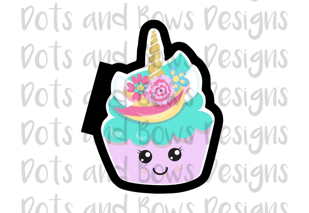 Unicorn Cupcake Cutter - Dots and Bows Designs