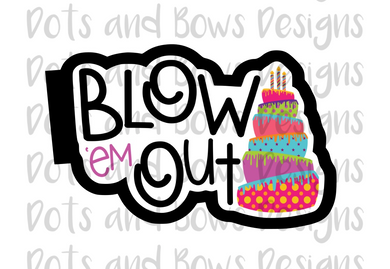 Blow 'em Out Cutter - Dots and Bows Designs