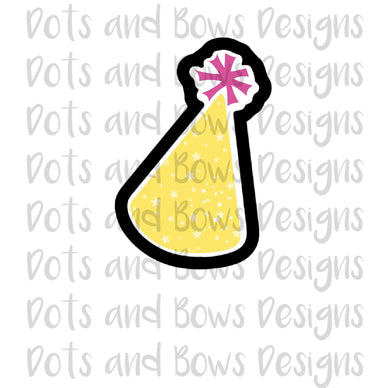 Poof Party Hat Cutter - Dots and Bows Designs