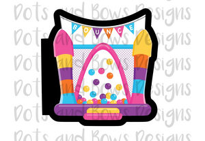 Banner Bounce House Cutter - Dots and Bows Designs