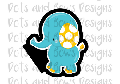 Baby Elephant Cutter - Dots and Bows Designs