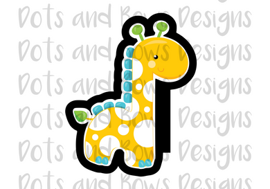 Baby Giraffe Cutter - Dots and Bows Designs