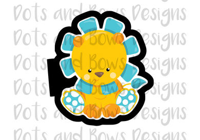 Baby Lion Cutter - Dots and Bows Designs