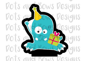 Birthday Monster #1 Cutter - Dots and Bows Designs
