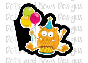 Birthday Monster #2 Cutter - Dots and Bows Designs