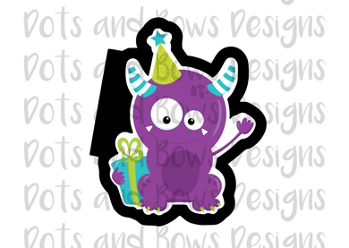 Birthday Monster #5 Cutter - Dots and Bows Designs