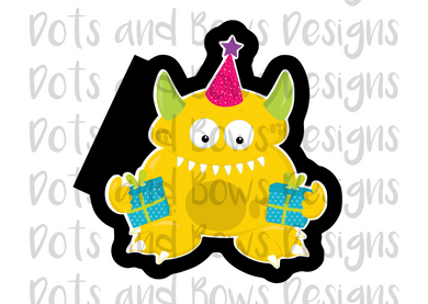 Birthday Monster #6 Cutter - Dots and Bows Designs