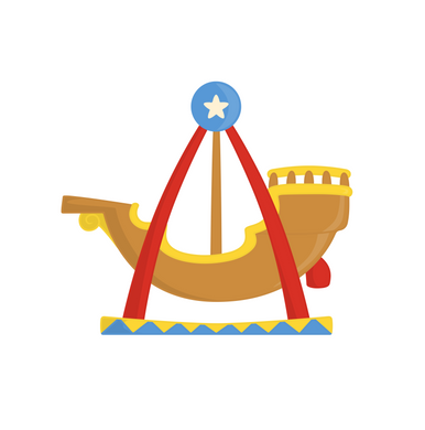 Pirate Ship Ride Cutter - Dots and Bows Designs