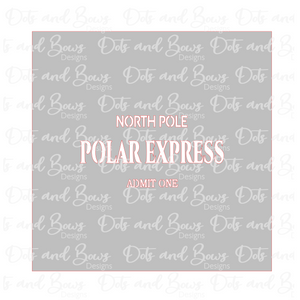 Polar Express 2 Piece Stencil Digital Download