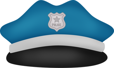 Police Hat Cutter - Dots and Bows Designs