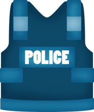 Load image into Gallery viewer, Police Vest Cutter - Dots and Bows Designs