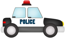 Load image into Gallery viewer, Police Car Cutter - Dots and Bows Designs