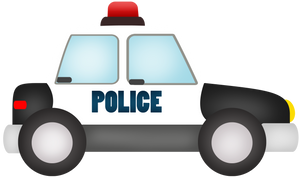 Police Car Cutter - Dots and Bows Designs