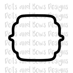 Rebecca Plaque Cutter - Dots and Bows Designs