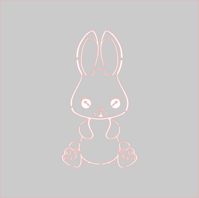 Sitting Bunny PYO Stencil Digital Download