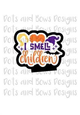 I Smell Children Cutter - Dots and Bows Designs