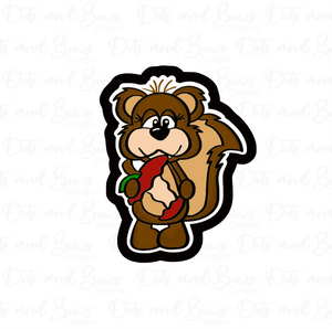 Apple Chipmunk STL Cutter File - Dots and Bows Designs