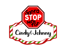Load image into Gallery viewer, Santa Stop Here Cutter - Dots and Bows Designs