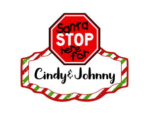 Santa Stop Here Cutter - Dots and Bows Designs