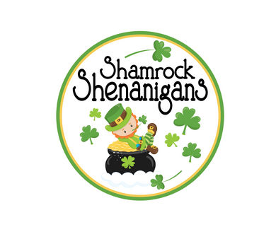 Shamrock Shenanigans Package Tags - Dots and Bows Designs