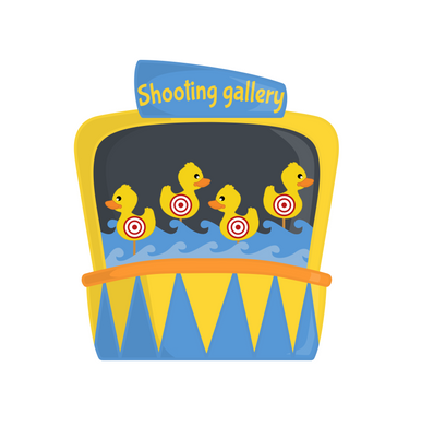 Shooting Gallery Cutter - Dots and Bows Designs