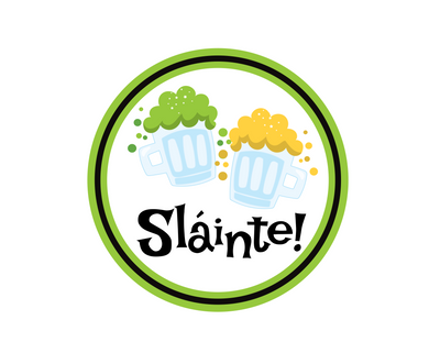 Slainte Package Tags - Dots and Bows Designs