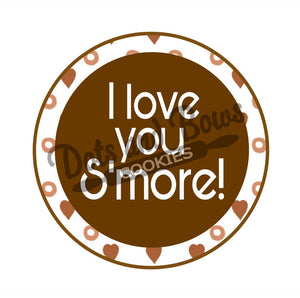 I Love You Smore Package Tags - Dots and Bows Designs