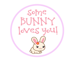 Some Bunny Loves You Package Tags - Dots and Bows Designs
