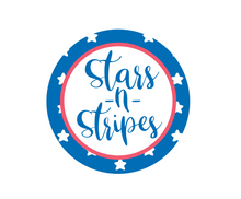 Load image into Gallery viewer, Stars and Stripes Package Tags - Dots and Bows Designs