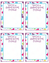 Load image into Gallery viewer, Sweet Treat Friend VDay Card 4x5 - Dots and Bows Designs