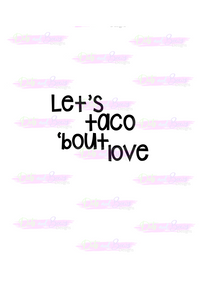 Taco 'Bout Love Cutter - Dots and Bows Designs