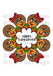 Gingerbread/Thanksgiving Platter STL Cutter Set Files - Dots and Bows Designs