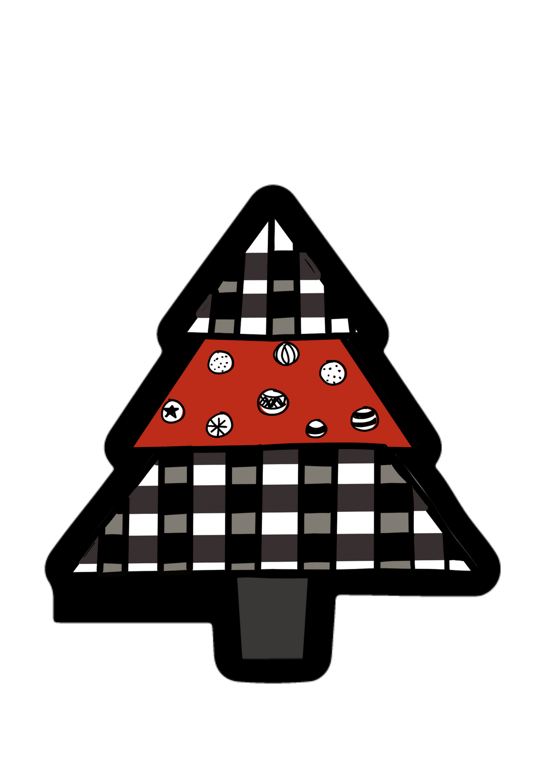 Christmas Tree Cutter - Dots and Bows Designs