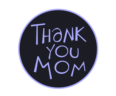 Thank You Mom Black/Blue Package Tags - Dots and Bows Designs