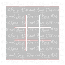 Load image into Gallery viewer, Tic Tac Toe Gift Board STL Cutter Set Files