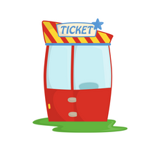 Load image into Gallery viewer, Ticket Booth Cutter - Dots and Bows Designs