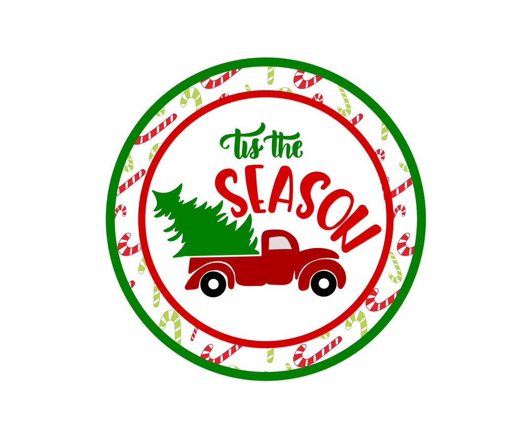 Tis The Season Canes Package Tags - Dots and Bows Designs
