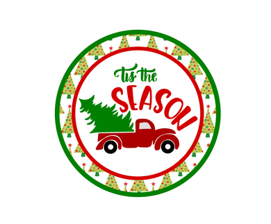 Tis The Season Trees Package Tags - Dots and Bows Designs