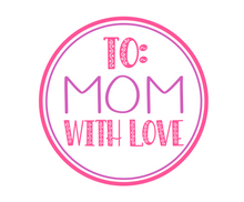 Load image into Gallery viewer, To Mom With Love Purple/Pink Package Tags - Dots and Bows Designs