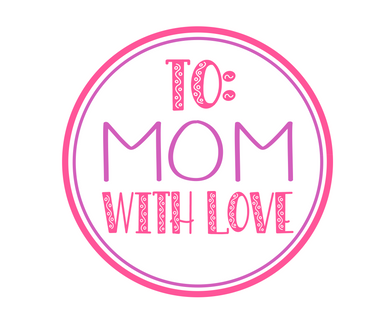 To Mom With Love Purple/Pink Package Tags - Dots and Bows Designs