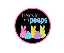 Load image into Gallery viewer, Treats for my Peeps Package Tags - Dots and Bows Designs